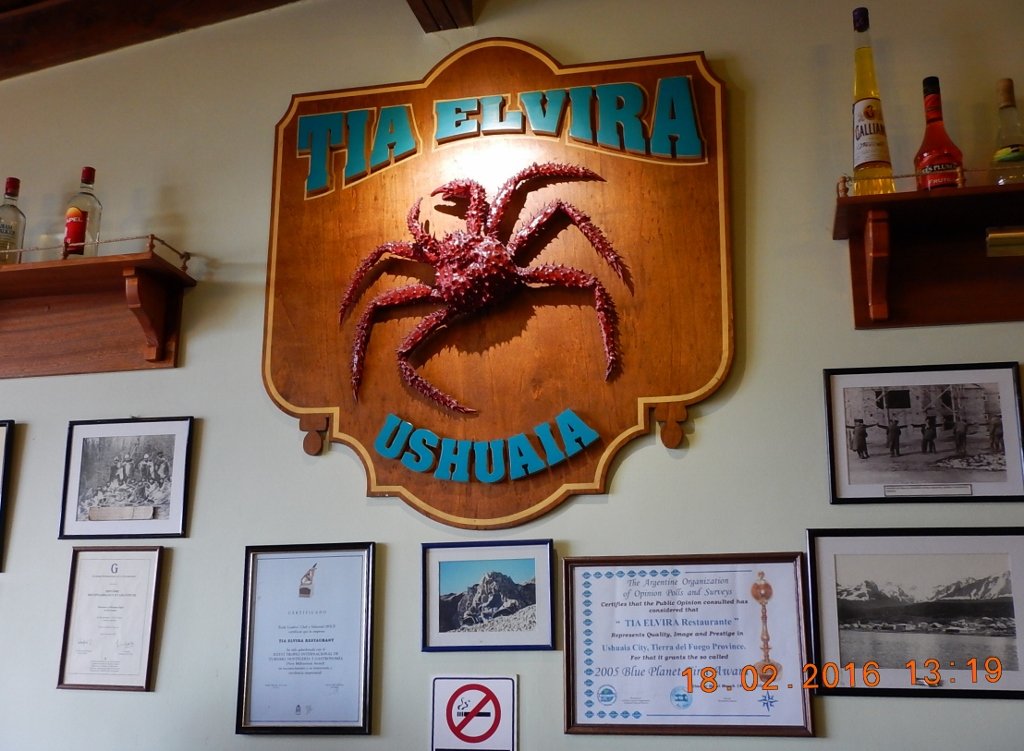 ARGENTINA . USHUAIA . TIA ELVIRA, Restaurante . Deixou a Desejar.
