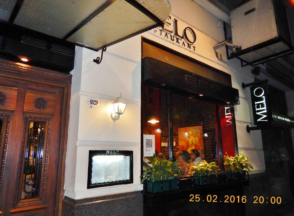 ARGENTINA . BUENOS AIRES . Melo. Concorrido Restaurante na Pacheco de Melo.