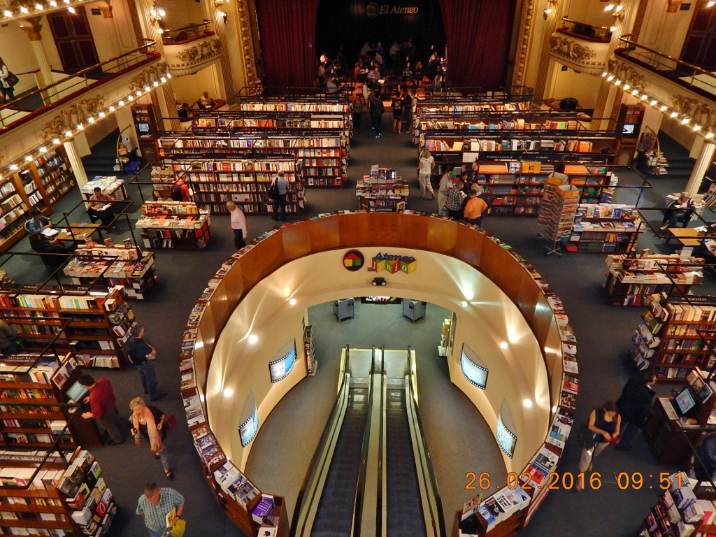 ARGENTINA . BUENOS AIRES . El Ateneo . Livraria e Café. Preciosidade da Capital Portenha.