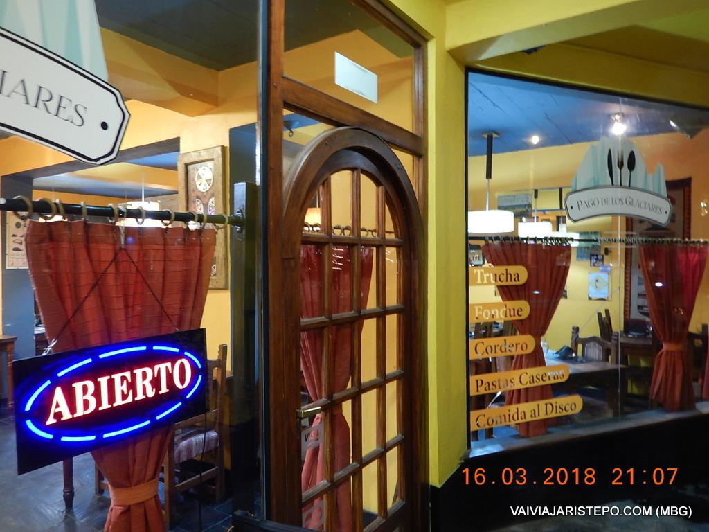 ARGENTINA . EL CALAFATE – Pago de Los Glaciares . Excelente Restaurante.