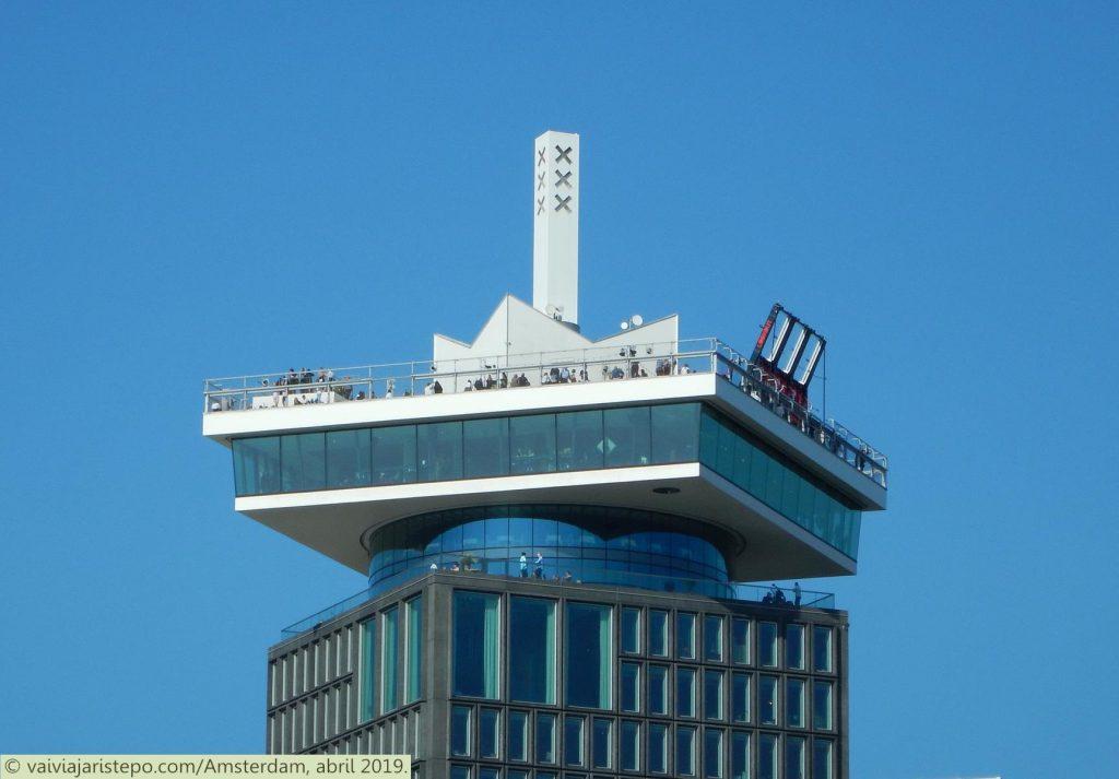 HOLANDA . AMSTERDAM . ADAM LOOKOUT . Visão 360º Da Cidade.